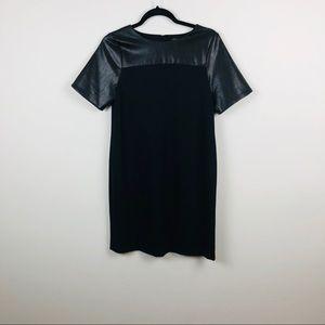 Ann Taylor Faux Leather Dress